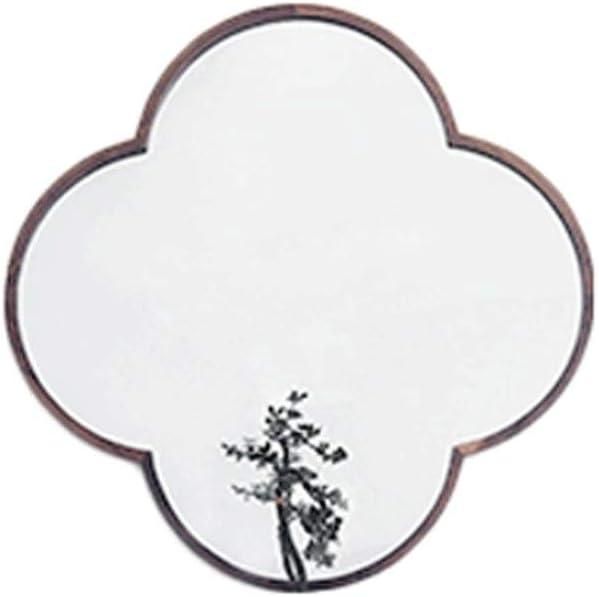 Hui mirror Estilo Simple Espejo de baño de Hierro Forjado Espejo de baño nórdico Pared del Estilo Espejo Colgante Pórtico Decorativo Espejo Espejo de baño (Size : 60cm)