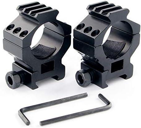 XBF-Armas de Aire comprimido, Visores 30 mm Alcance Monte Anillos Fit 20mm Picatinny del Carril del tejedor del Montaje Accesorios for Uso táctico del Rifle de Caza