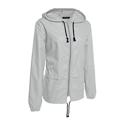 061af6ccb PHOEBE CAT Women's Lightweight Rain Jacket Outdoor Packable Waterproof  Hooded Raincoat with Zipper S-XXL
