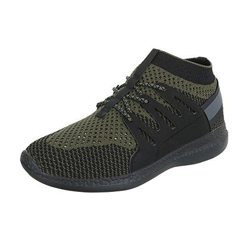 Ital-Design - Zapatillas altas Hombre Grün Olive