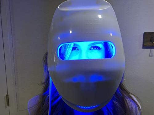 Vansaile New Phototherapy Mask, LED Photon Therapy Mask, Can Be Timed Three-Color Photon Rejuvenating Mask Machine 3D Phototherapy Light Mask Facial Beauty Skin Care Mask Device for Women Men