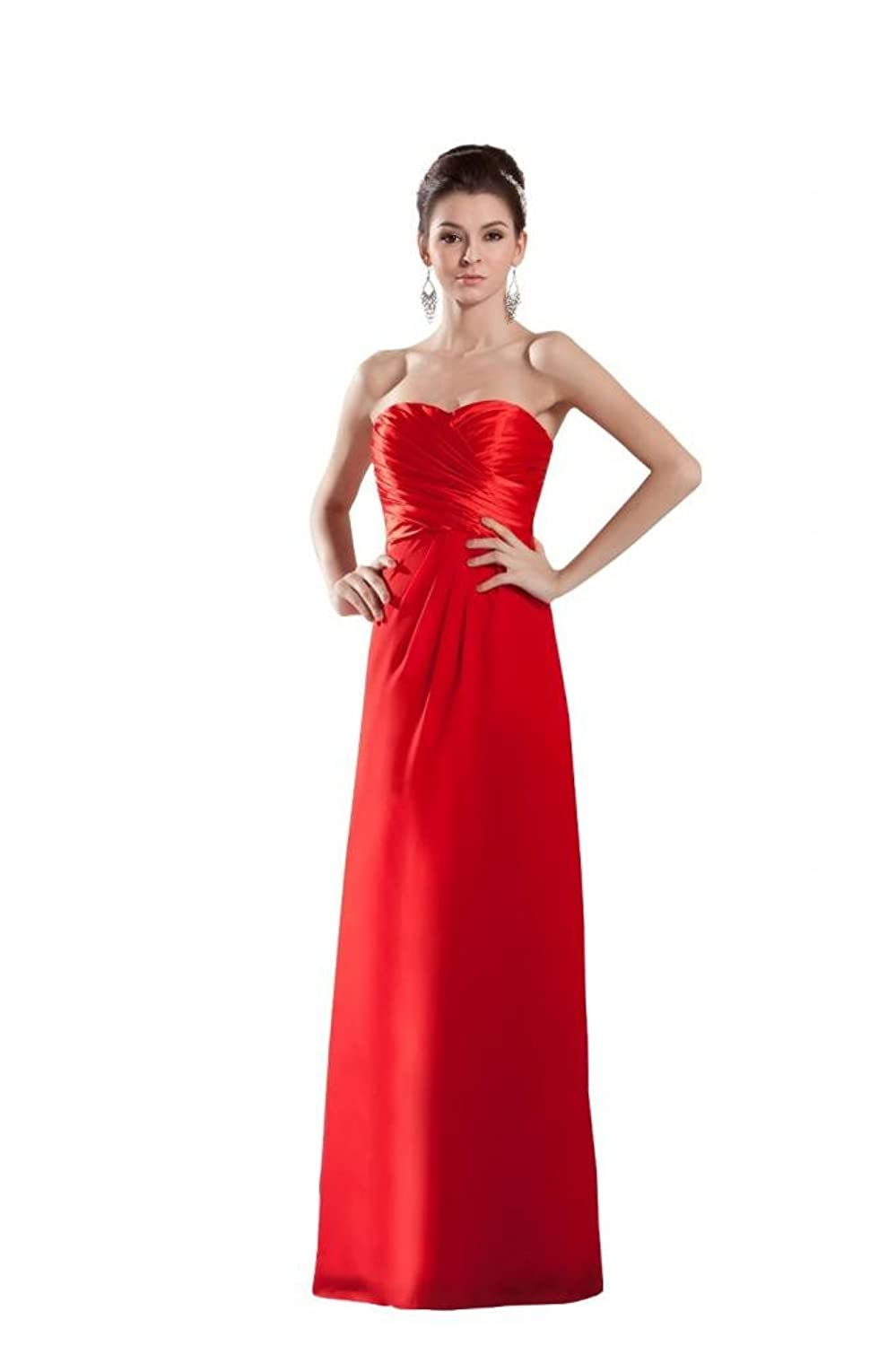 Orifashion Simple Strapless Red Prom/Evening Dress (Model EDSHER0114)