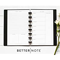 "BetterNote, This Week, Weekly Organizer for DiscBound Notebook, 8-Disc Half Letter Size, Fits Levenger Circa Junior, Arc, TUL 5.5""x8.5"", Classic (Notebook Not Included)"