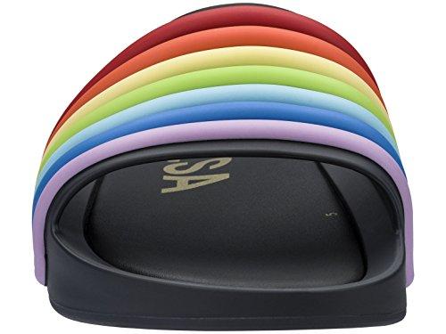 black Sandali Rainbow Slide Beach Donna 53302 Melissa Punta 20 Aperta Nero 6O14qxnP