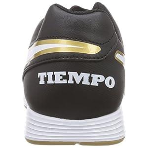 NIKE Men's Tiempo Genio II Leather IC Indoor Soccer Shoe (SZ. 11) Black