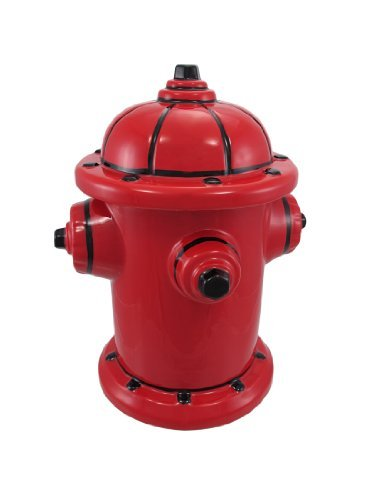 Fire Hydrant Ceramic Cookie Jar Fireman Firefighter, Garden, Lawn, Maintenance - Hydrant Cookie