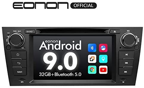 Car Stereo Android Radio Eonon 7 Inch Android 9.0 Car Radio Applicable to BMW 3 Series GPS Navigation for Car Support Carplay Android Auto Bluetooth 5.0 WiFi Fast Boot DVR Backup Camera OBDII-GA9365