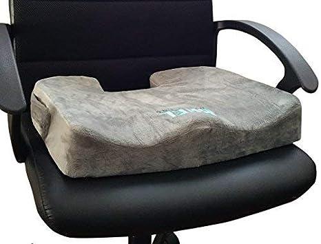 Bael Bienestar ortopédica para dolor de espalda baja, dolor de coxis y ciática – Cojín de asiento, grado soporta firme – Corrige la Postura De Forma ...