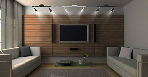 Kitchen Spotlight Fitting for Living Room 3000K - Warm White LED Triple Head Focus Light Reception Gallery V-TAC 13.5W Black LED Wall Spotlight Office Adjustable Spotlight Head 1080 lm