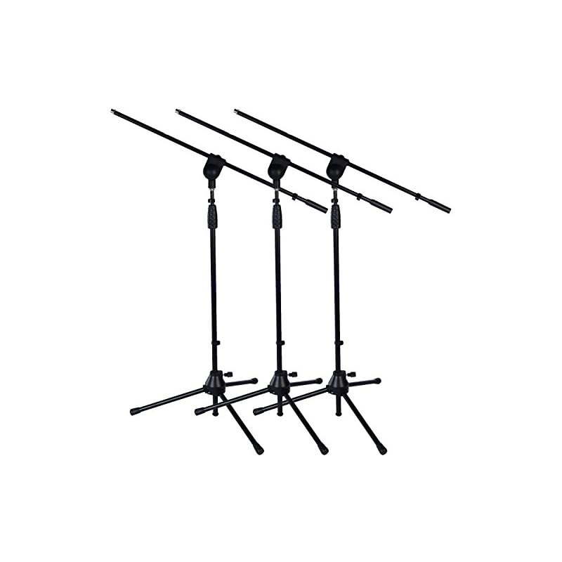 3 Pack of LyxPro Tripod Boom Floor Micro