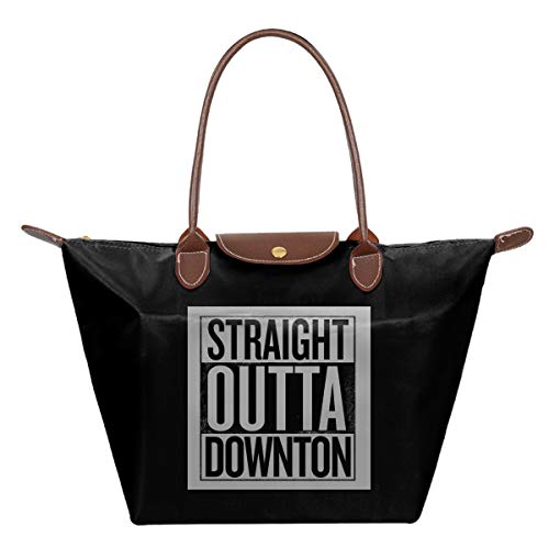 Downton Abbey Shopping Bag (Straight Outta Downton Abbey Waterproof Leather Folded Messenger Nylon Bag Travel Tote Hopping Folding School)