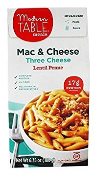MODERN TABLE, Lentil Mac&Chs, 3Cheese, Pack of 6, Size 6.35 OZ, (Gluten Free Wheat Free Yeast Free)
