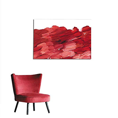 homehot Corridor/Indoor/Living Room deep red Acrylic Paint Brush Stroke for Background Hand Drawn Abstract Illustration for Header Greeting Card Poster Wallpaper Mural 20