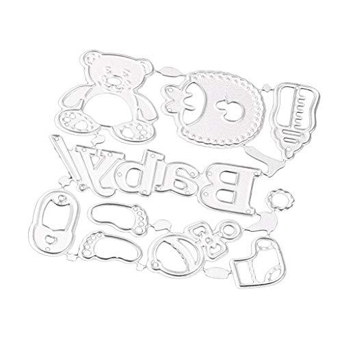 Esquirla Metal Dies Cut Baby Accessory Cutting Dies Stencils Templates for DIY Scrapbook