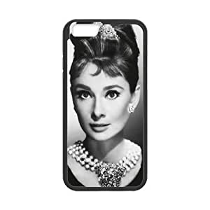 "wugdiy DIY Protective Snap-on Hard Back Case Cover for iPhone6 4.7"" with Audrey Hepburn"