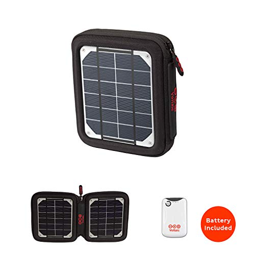 Voltaic Systems Amp Portable Rapid Solar Charger with Battery Pack (Power Bank) 4,000mAh & 2 Year Warranty | Powers Phones Compatible with iPhone, Tablets, USB, More | Waterproof - Silver