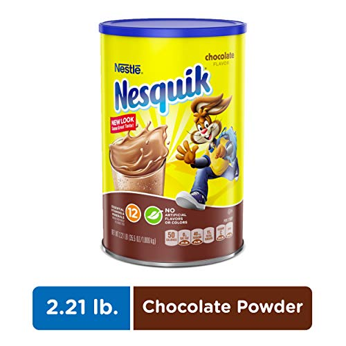 NESQUIK Chocolate Cocoa Powder, 2.21 Lb. Canister | Chocolate Milk Powder