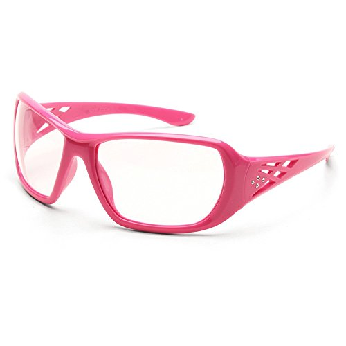 ERB Safety Products 17953 Rose Frame, Clear Lens, One Size, Pink -
