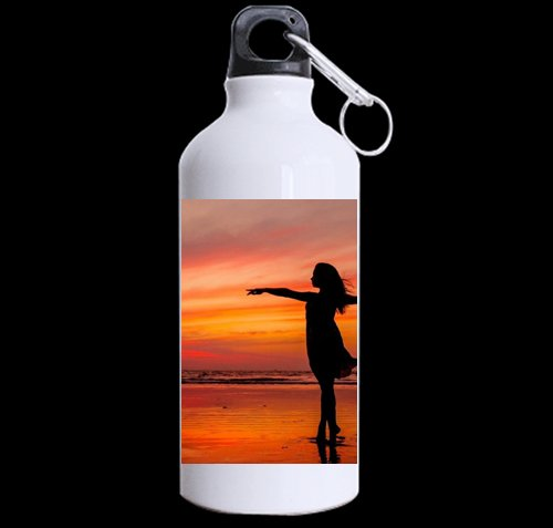 Freedom Sunset DIY Personalized Custom Sport Water Bottle Travel Cup 13.5 OZ (Twin Sides Print) Design Your Own Nice Gift Art Prints Twin Sides by CustomLittleHome