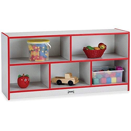rainbow accents 0392JCWW008 Low Single Mobile Storage Unit, Red ()