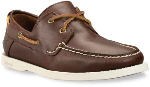 Timberland Heritage 2 Eye Boat, Boots homme Marron lisse