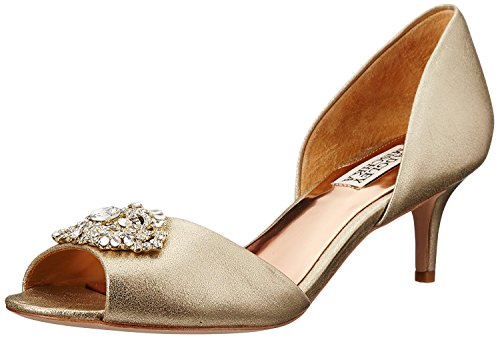 Platino Leather Footwear - Badgley Mischka Women's Petrina II D'Orsay Pump, Platino, 6 M US
