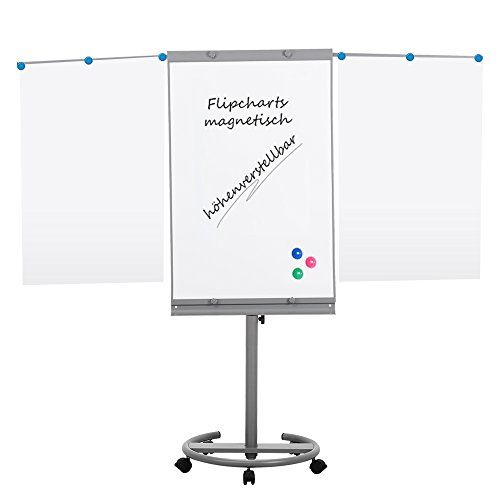 SwanSea Mobile Flip Chart Easel Magnetic Dry Erase Boards with Foldable Side Arms 40'' X 26'' by SwanSea