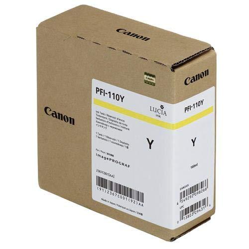 (Genuine Canon Ink Tank PFI-110Y - Yellow 160ml - 2367C001AA)