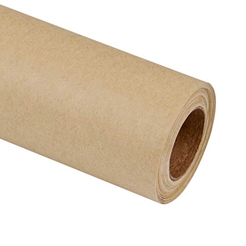 RUSPEPA Brown Kraft Wrapping Paper - 81.5 Sq Ft Heavyweight Paper for Wedding,Birthday, Shower, Congrats, and Holiday Gifts - 30Inch X 32.8Feet Per Roll