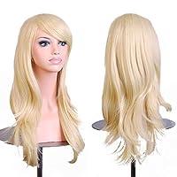 """Outop 28 \""""pelo peluca nueva moda largo grande pelo ondulado mujer resistente al calor peluca para cosplay traje de fiesta"""