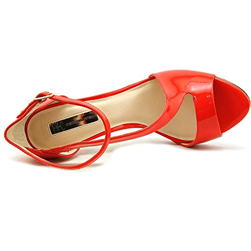 INC International Concepts Suzi Ankle Strap Sandals Tangerine Jg6MoE