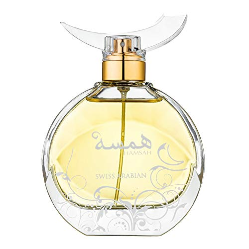 (HAMSAH, an Eau De Parfum for Women with sultry Orange Blossom, Mandarin, Gardenia, Rose, Honey and Vetiver by perfume artisan Swiss)