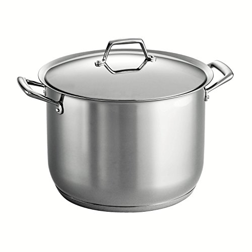 Tramontina Gourmet Prima 18/10 Stainless Steel Tri-Ply Base Covered Stock Pot, 16-Quart by Tramontina