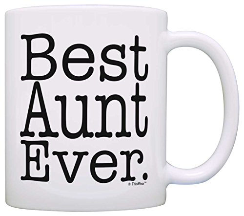 Mother's Day Gift Best Aunt Ever Birthday Gift New Aunt Gift Coffee Mug Tea Cup White