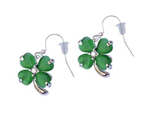 St Patrick's Day 4 Leaf Clover Pierced Earrings