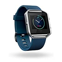 Smart Fit Watch Fitbit Blaze, azul, plateado, grande (6.7 - 8.1 pulgadas) (versión para EE. UU.)