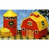 John Deere 'On the Farm' Ceramic Salt & Pepper Shaker Set - Barn and Grain Silo
