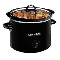 Olla de cocción lenta manual redonda Crock-Pot 2-QT, negro (SCR200-B)