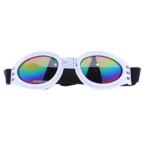 YODOSUN 애완 동물 강아지 고글 눈 착용 보호 방수 접이식 선글라스 조절 스트랩