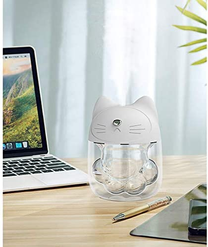 Portable Mini USB Humidifiers,Cute Cat Paw Quiet Mist
