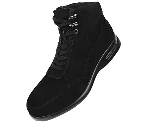 Sio Mens Nubuck Casual Boot With Matching Colored Air Bottom George Black zXqNb