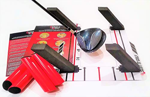 Groove Wood Poles - The Only Speed Trap Golf Type Swing Trainer Designed for Driver, Woods & Irons (Pat Pending). Groove a Better Swing. Use Black Poles for Woods, Red Poles for Irons. Slot It Golf Training Aid