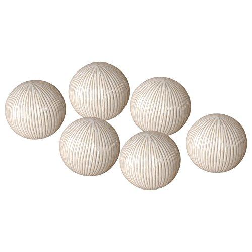 Emissary Home & Garden Textured Balls S/6 White 4