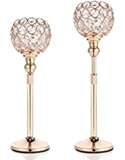 DUOBEIER Crystal Candle Holders