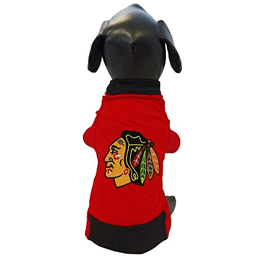 All Star Dogs Chicago Blackhawks Pet Mesh Sports Jersey, Small