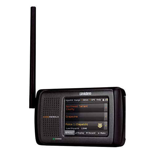 Radio Uniden Emergency - Uniden HomePatrol-2 Color Touchscreen Simple Program Digital Scanner, TrunkTracker V and S,A,M,E, Emergency/Weather Alert, APCO P25 Phase 1 and 2! Covers USA and Canada, Quick Record and Playback,