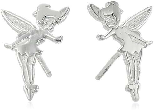 Disney Tinkerbell Sterling Silver Stud Earrings