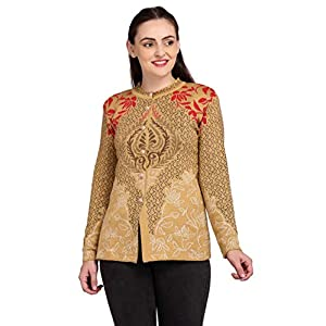 Shree Mark Women's Winterwear Woolen Self Design Full Sleeve Button Cardigan