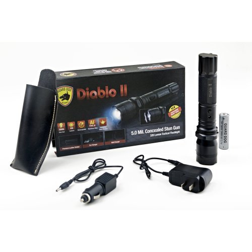 Guard-Dog-Diablo-II-5M-Volt-Stun-Tactical-Flashlight-320-Lumens-States-City-Restrictions-Apply-Lifetime-Warranty