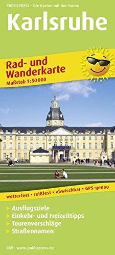 Karlsruhe: Rad- und Wanderkarte mit Ausflugszielen, Einkehr- & Freizeittipps, wetterfest, reissfest, abwischbar, GPS-genau. 1:50000 (Rad- und Wanderkarte / RuWK)